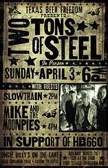 Advance Tickets for Drink Beer, Save Texas party with Two Tons of Steel